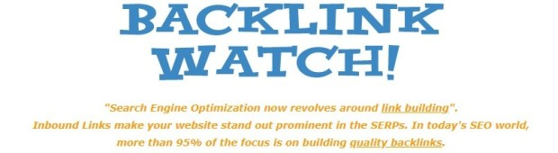 Backlinkwatch - free backlinks checker tools