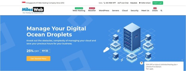 MilesWeb Digital Ocean Hosting