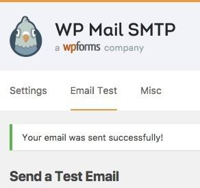 WP-Mail-SMTP-Success-message