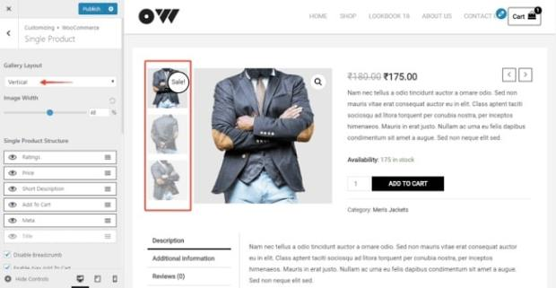 Astra for eCommerce Sites - Product Image Gallery