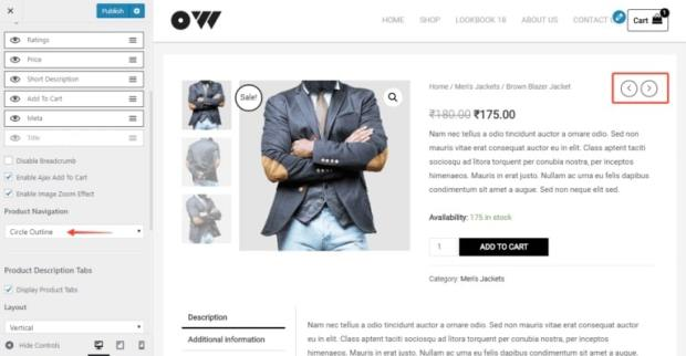 Astra for eCommerce Sites - Product Navigation