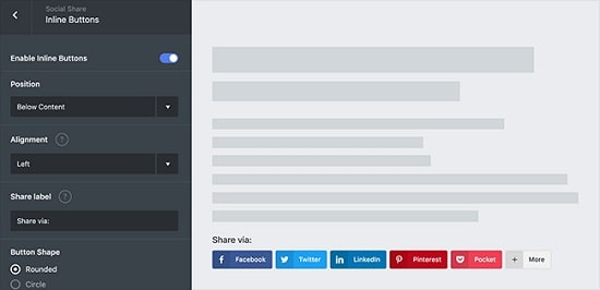 Social Snap Review - Inline sharing buttons