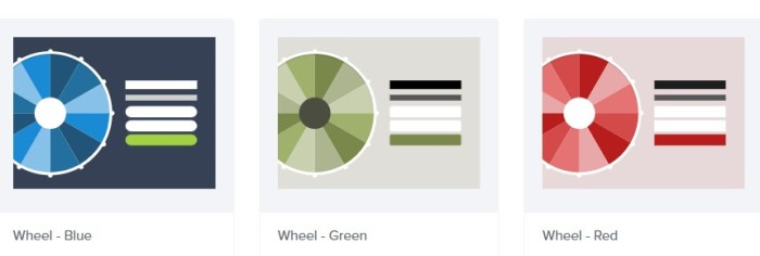 Choose wheel template