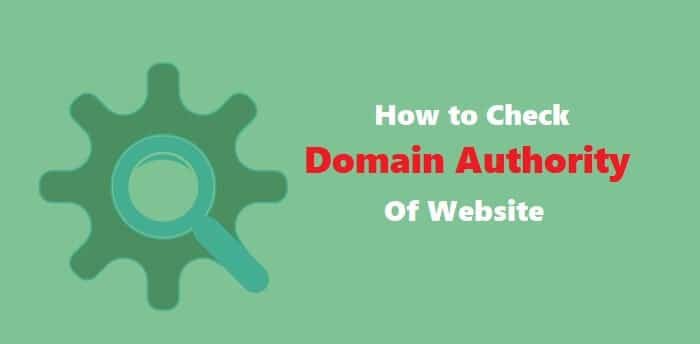 How to check domain authority