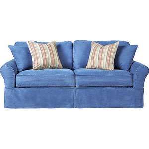 Cindy Crawford Collection Rooms To Go Blue Sofa
