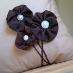 Fabric remnant flowers that don't require a green thumb