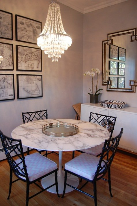 Framed Black And White Maps Are Perfect Wall Art In This Casual Dining Space By Erin Gates You Could Choose Vintage Maps Of Your Hometown