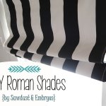 DIY Roman Shades Tutorial