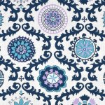Blue Fabric Print Mixing (Part 1)