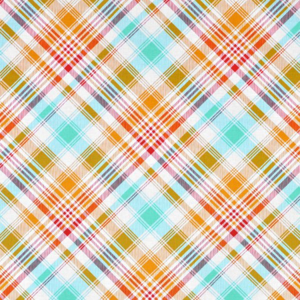 Joel Dewberry Tartan Poppy Fabric