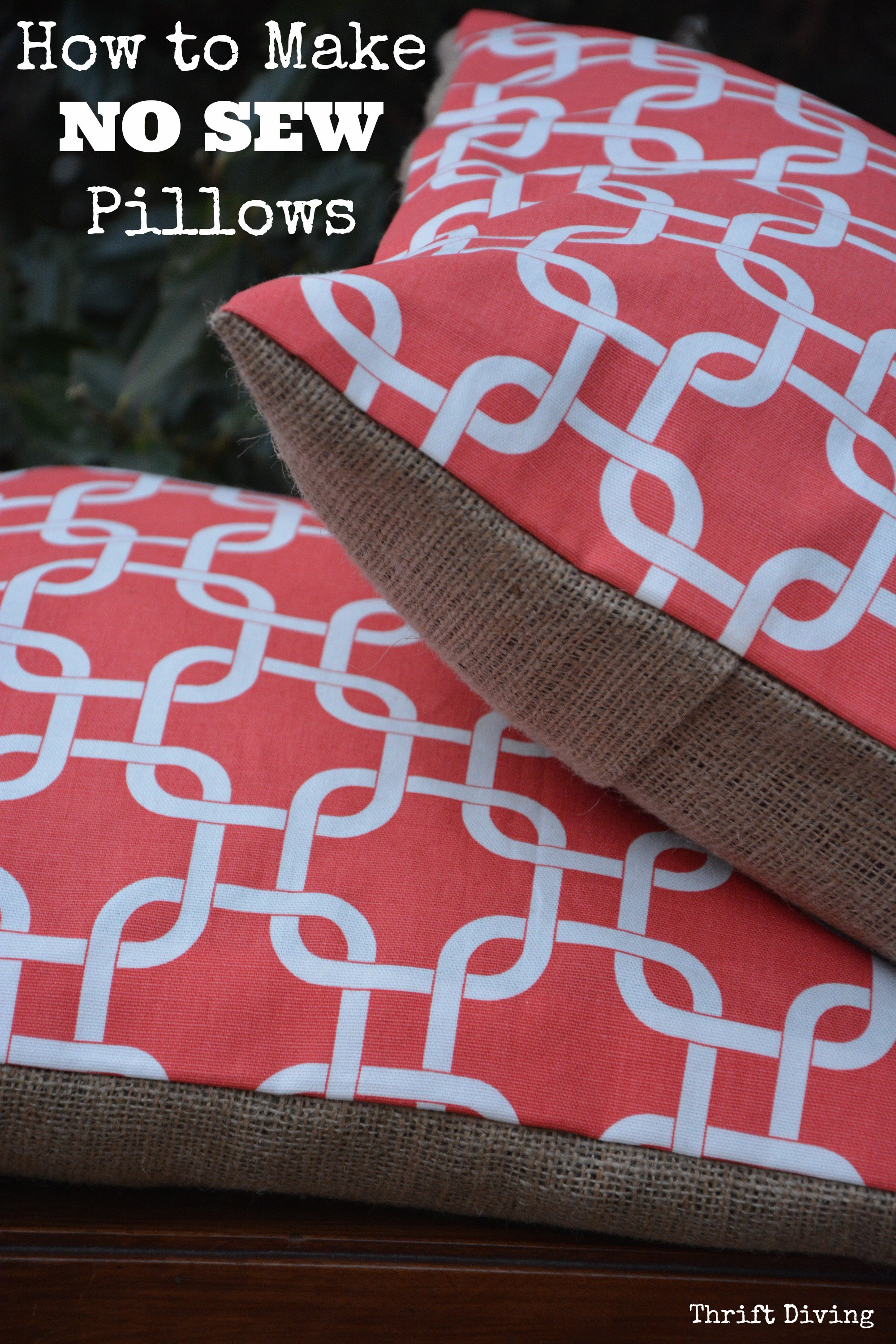 How To Make A No Sew Double Sided Pillow