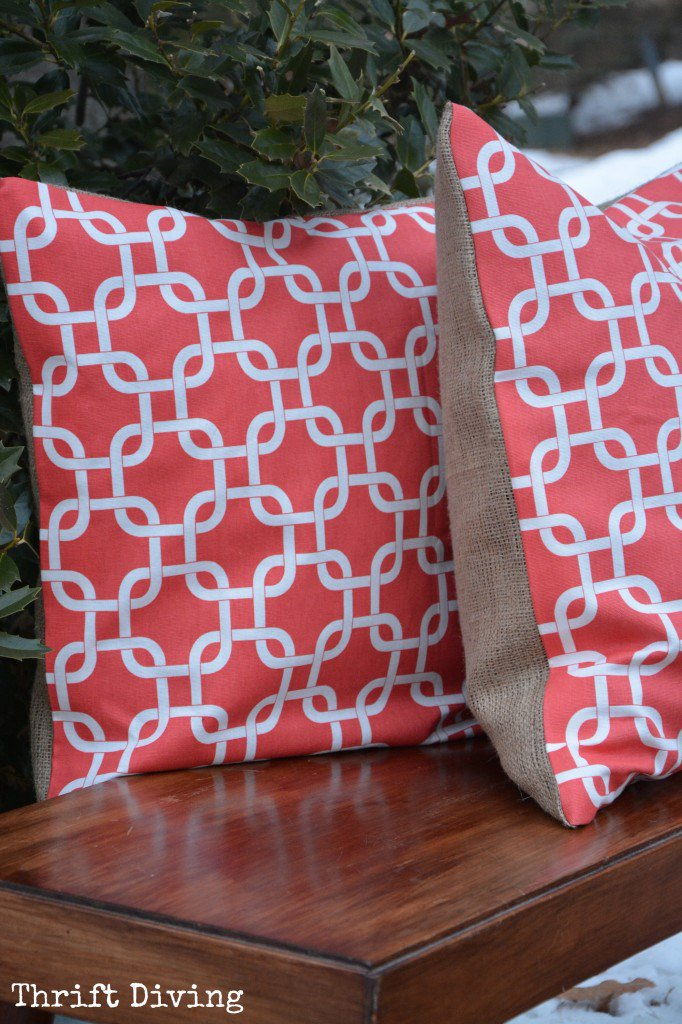 diy chair cushion no sew ercol rocking styles how to make a no-sew, double-sided pillow - onlinefabricstore.net blog