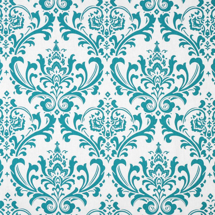 Premier Prints Traditions True Turquoise Fabric