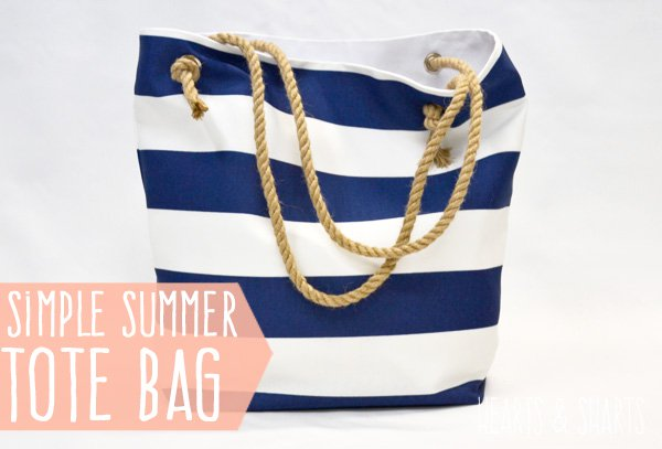 DIY Summer Tote Bag Tutorial