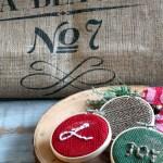 DIY Monogrammed Burlap Ornaments
