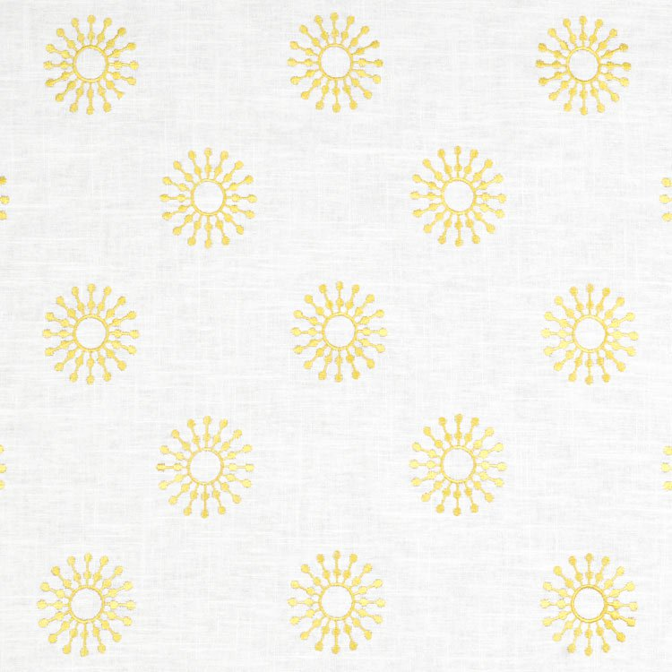 Neutral yellow gray nursery inspiration for Yellow nursery fabric