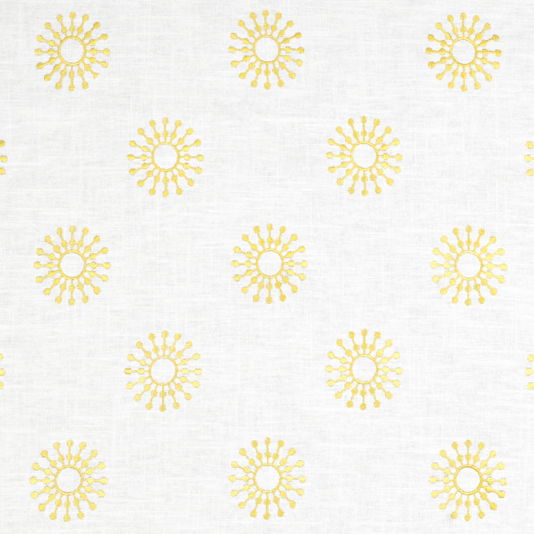 Neutral yellow gray nursery inspiration for Yellow nursery fabric