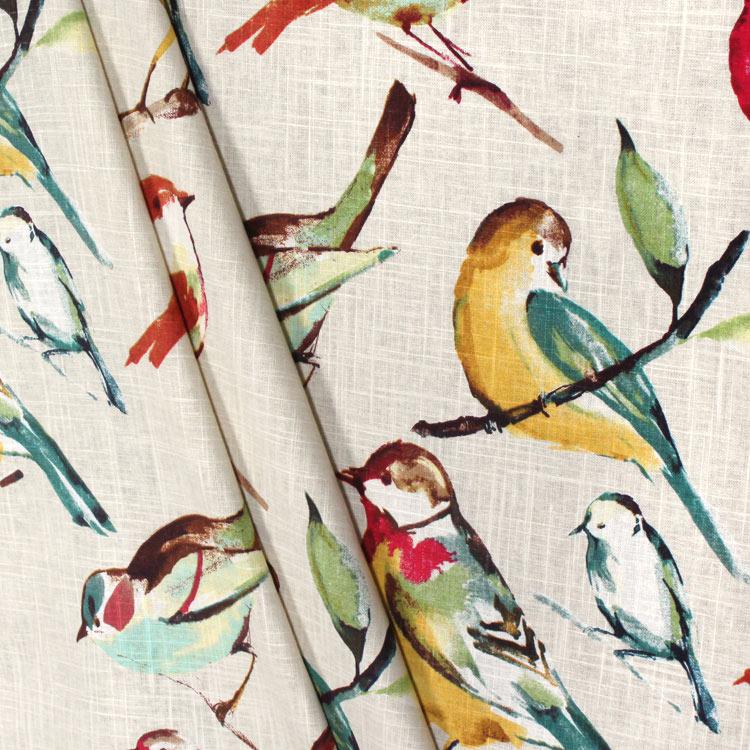 Richloom Birdwatcher Meadow Fabric