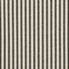 Fabrics For Chairs Striped Butterfly Chair Covers Walmart Stripe Upholstery Fabric Onlinefabricstore Net Waverly Timeless Ticking Black Cream