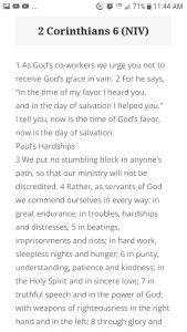 2 Corinthians 6 (NIV)