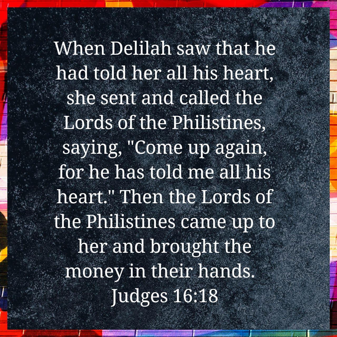 Judges 16:18