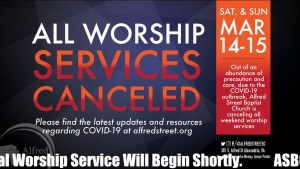 Alfred Street Baptist Church Virtual Worship Service