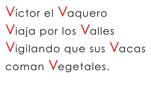 Rimas en Español – Letra: V – v