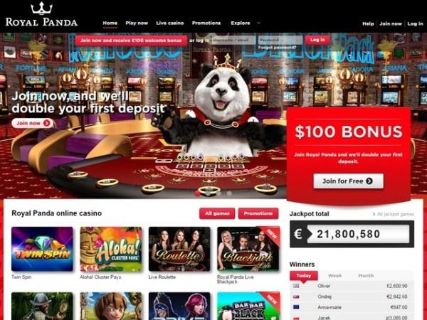 Royal Panda Casino Review 2018 - $100 Welcome Bonus In New ...