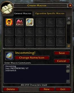 WoW Incomming with WoW Voice Emote