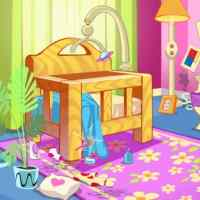 Baby Doll House Cleaning Game