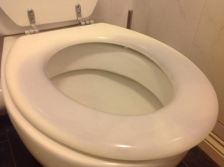 clean toilet seat