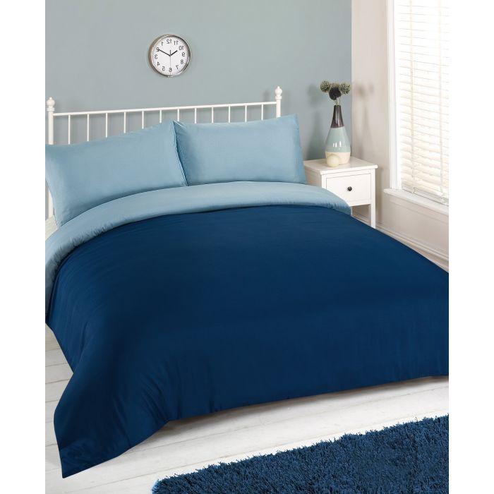 brentfords plain duvet cover set navy blue