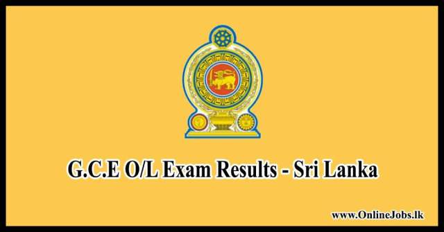 O/l Result Released - Click to View Your Results www doenets lk