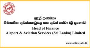 Airport & Aviation Services (Sri Lanka) Limited Jobs 2020