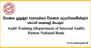 Audit Training (Department of Internal Audit) Hatton National Bank