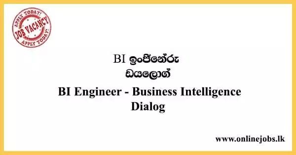 BI Engineer - Business Intelligence Dialog Vacancies 2021