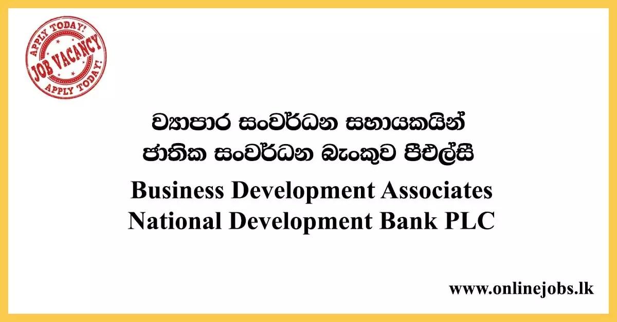 Business Development Associates - National Development Bank PLC