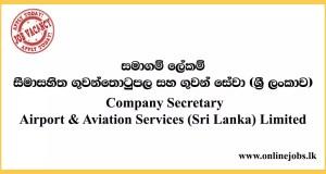 Company Secretary - Airport & Aviation Services (Sri Lanka) Limited