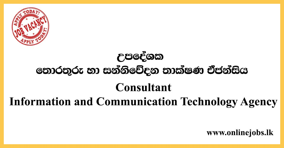 Consultant - Information and Communication Technology Agency