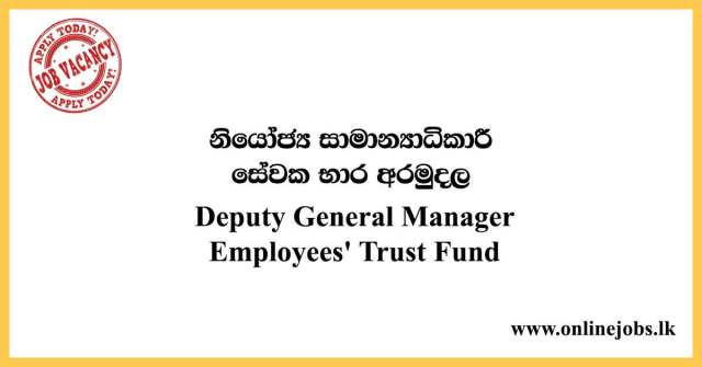 Deputy General Manager - Employees' Trust Fund