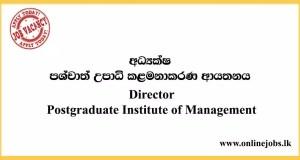 Postgraduate Institute of Management Vacancies