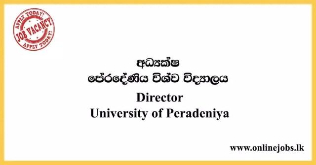 Director - University of Peradeniya