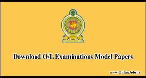 Download O/L Examinations Model Papers
