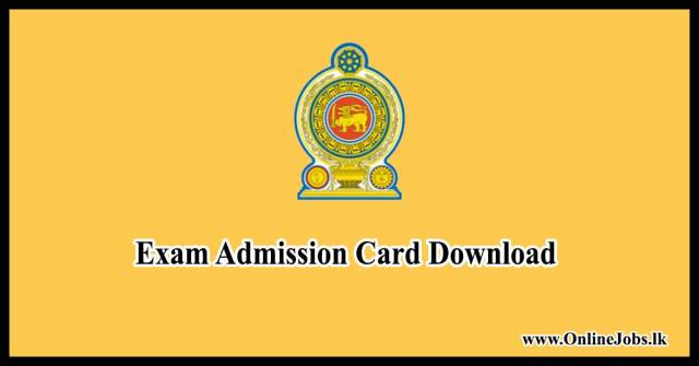 Exam Admission Card Download