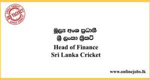 Head of Finance - Sri Lanka Cricket Vacancies 2021