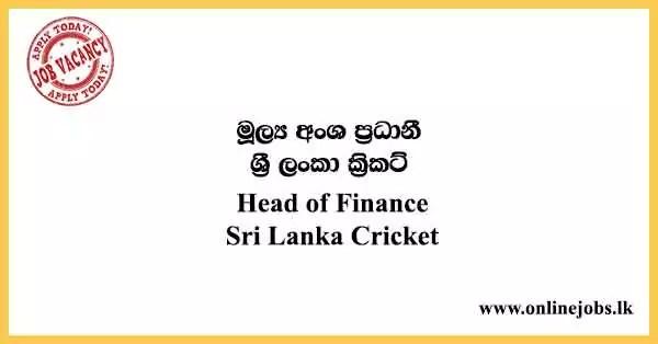 Head of Finance - Sri Lanka Cricket Vacancies 2021