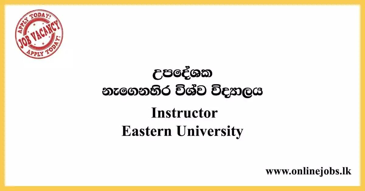 Instructor - Eastern University