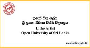 Litho Artist - Open University of Sri Lanka Vacancies 2020