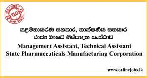 Management Assistant, Technical Assistant - State Pharmaceuticals Manufacturing Corporation