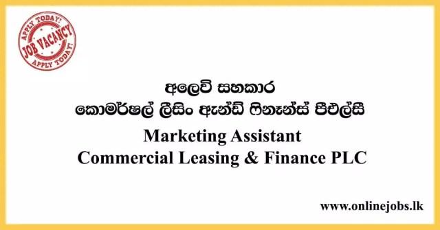 Marketing Assistant - Commercial Leasing & Finance PLC